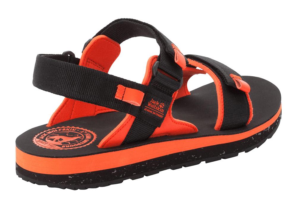 Пета на мъжки туристически сандали Jack Wolfskin Outfresh Deluxe Black Orange 2020