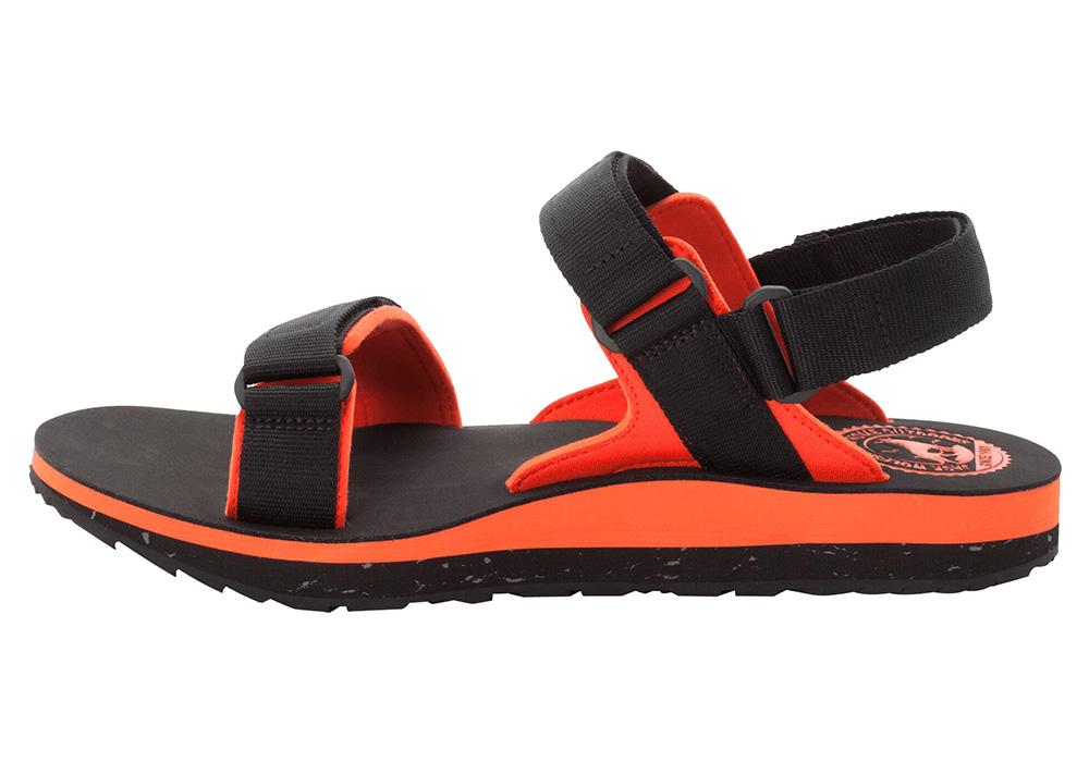 Профил на мъжки туристически сандали Jack Wolfskin Outfresh Deluxe Black Orange 2020