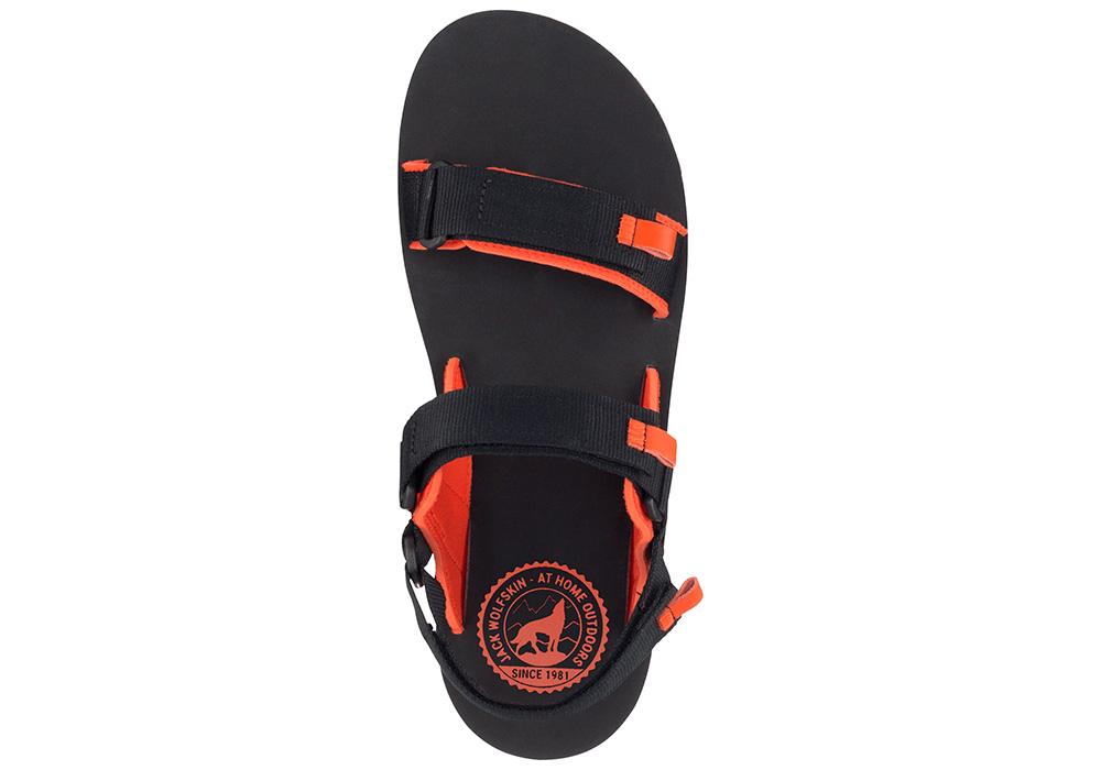 Отгоре мъжки туристически сандали Jack Wolfskin Outfresh Deluxe Black Orange 2020