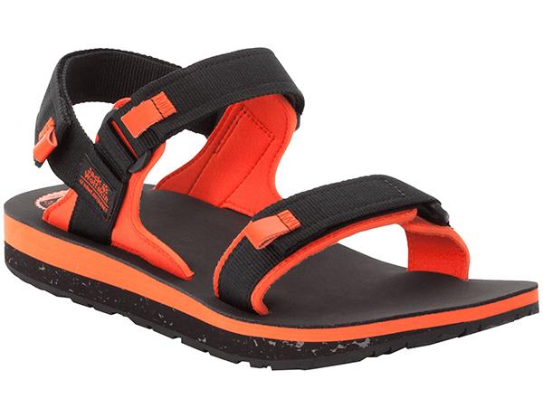 Мъжки туристически сандали Jack Wolfskin Outfresh Deluxe Black Orange 2020