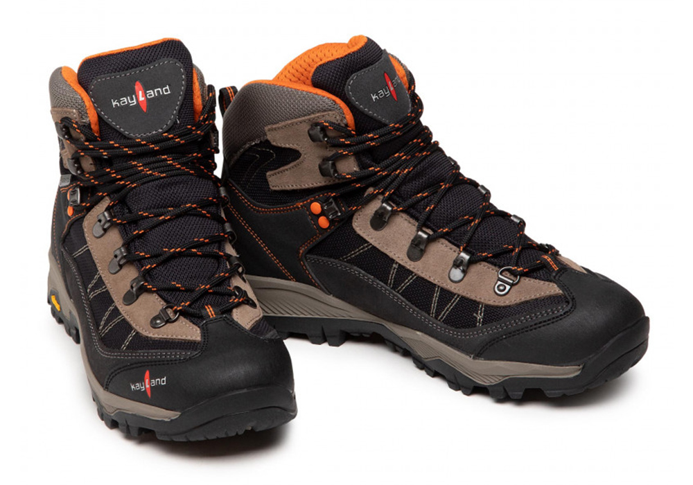 Pair Kayland Taiga GTX Black Orange Men's Hiking Boots 2021