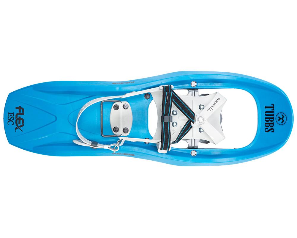 Изглед отгоре с гъвкава конструкция снегоходки Tubbs Flex ESC 22 Snowshoes модел 2018