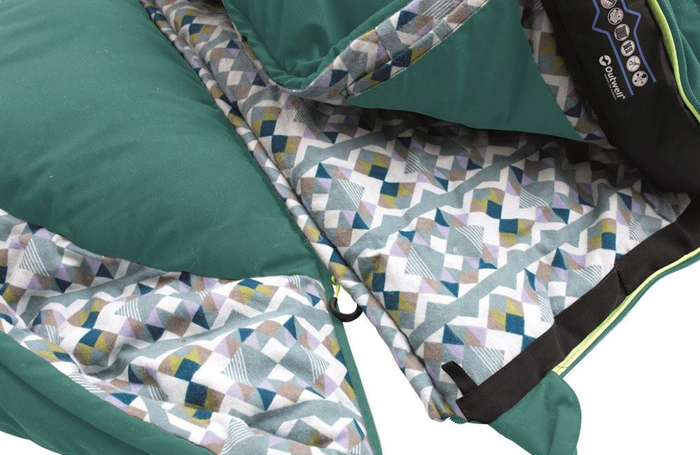 Възглавница и качулка Спален чувал Outwell Camper Supreme 2021