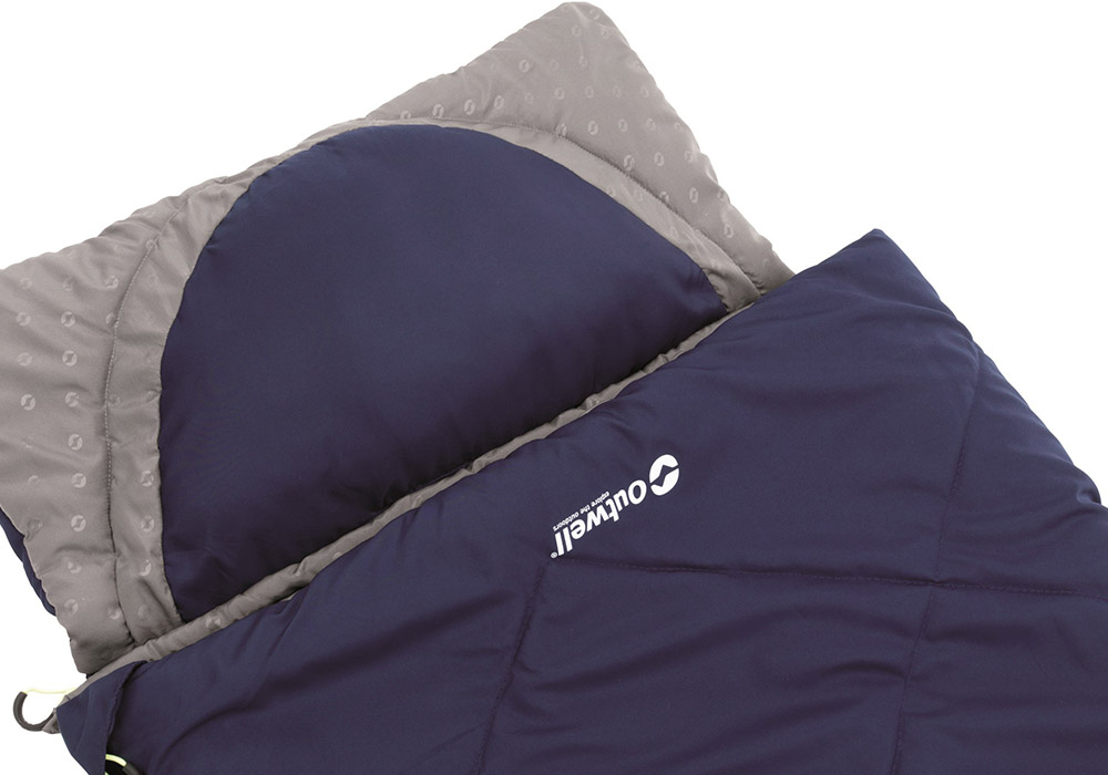 Възглавница с разкачане детски спален чувал Outwell Contour Junior Royal Blue
