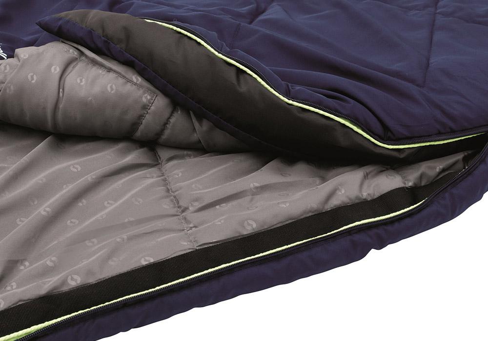 Вътрешна част на детски спален чувал Outwell Contour Junior Royal Blue