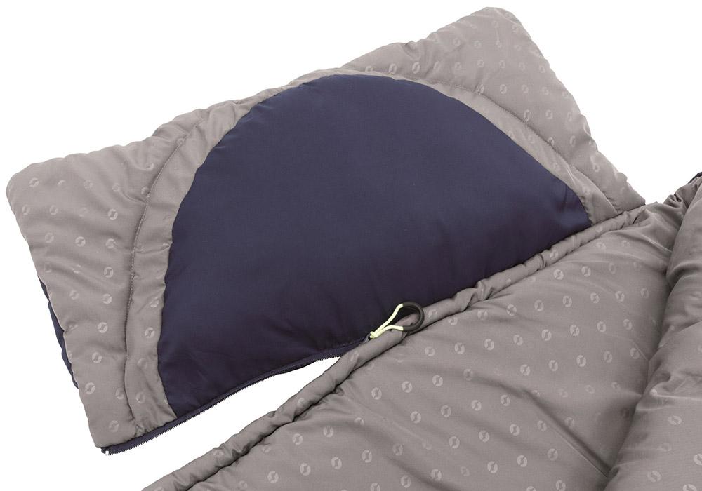 Разкачане на възглавница детски спален чувал Outwell Contour Junior Royal Blue