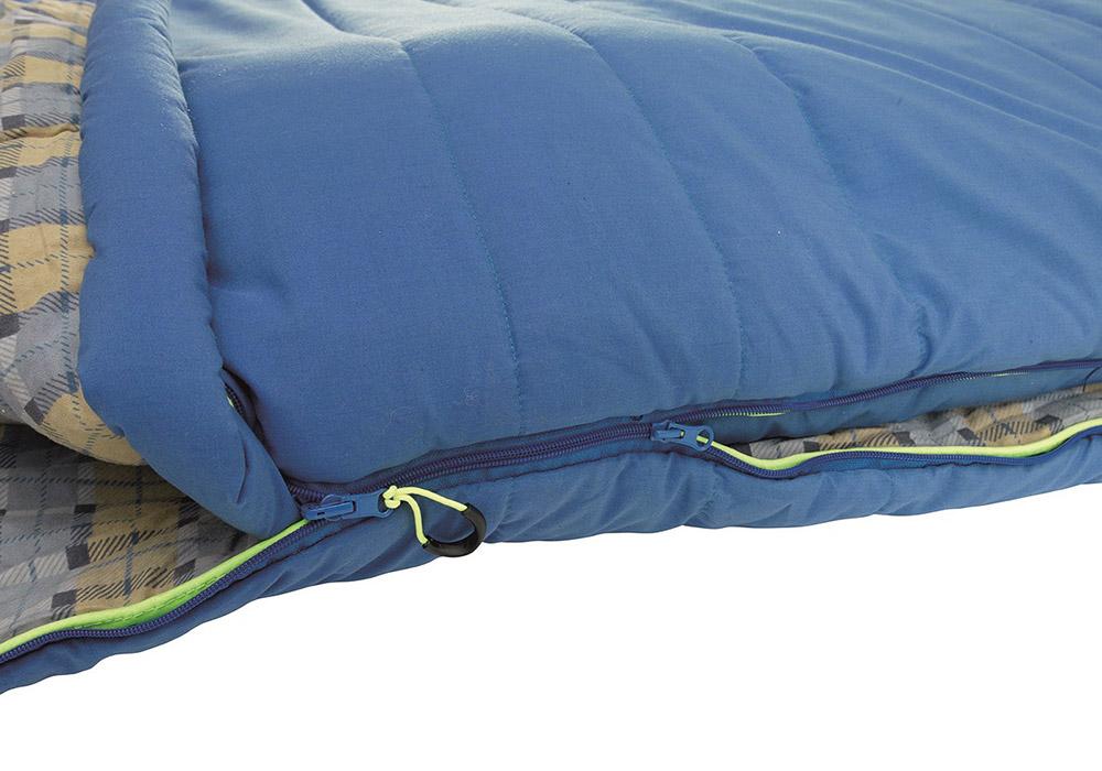 Двоен спален чувал Outwell Commodore Double Blue 2020