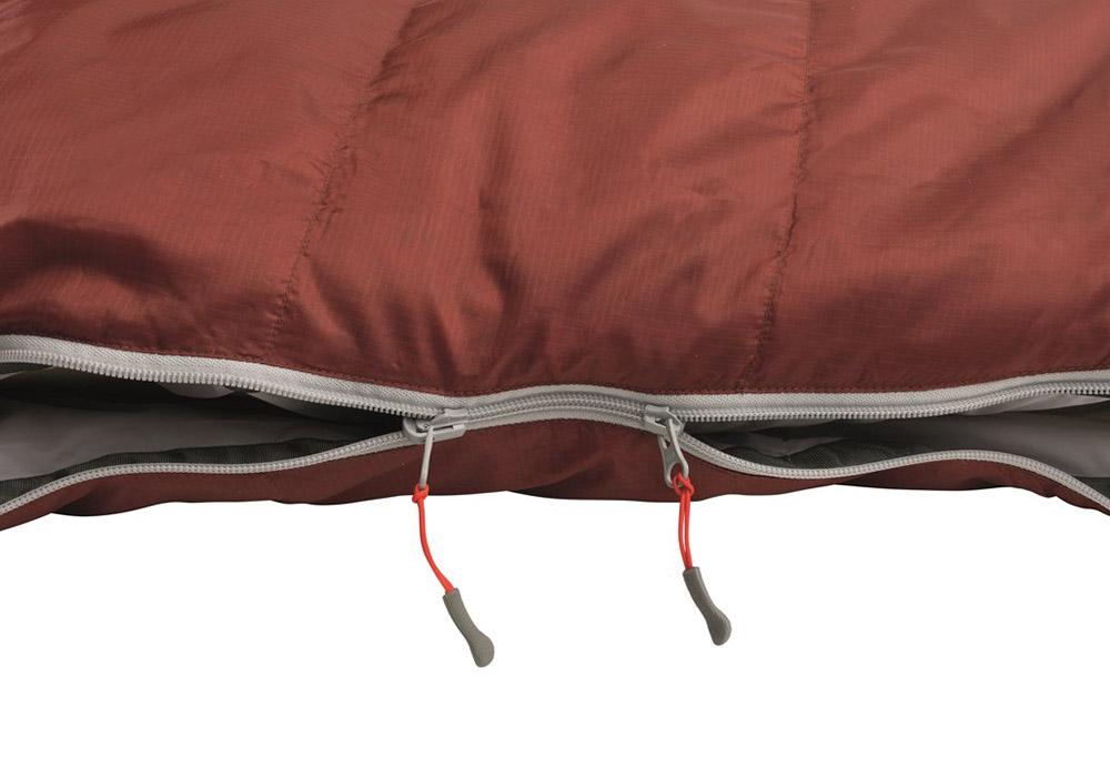 Двупосочни ципове на пухен спален чувал Robens Spur 500 Short 2020