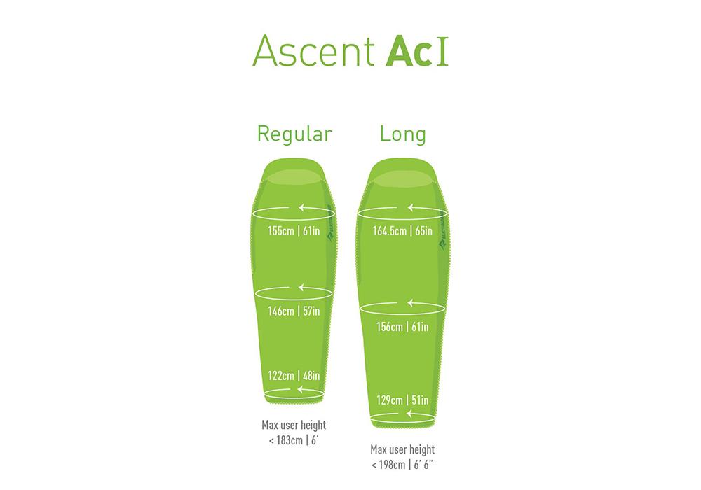 Sea to Summit Ascent AcI Down Sleeping Bag - Regular 2021