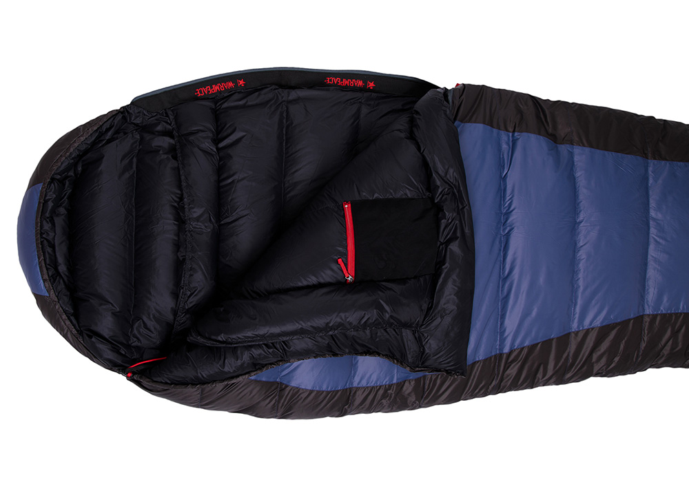 Отворен пухен спален чувал Warmpeace Viking 600 Shadow Blue / Grey 2020