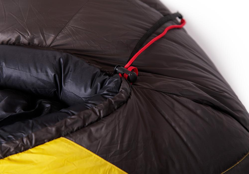 Качулка на пухен спален чувал Warmpeace Viking 1200 Yellow / Grey 2020