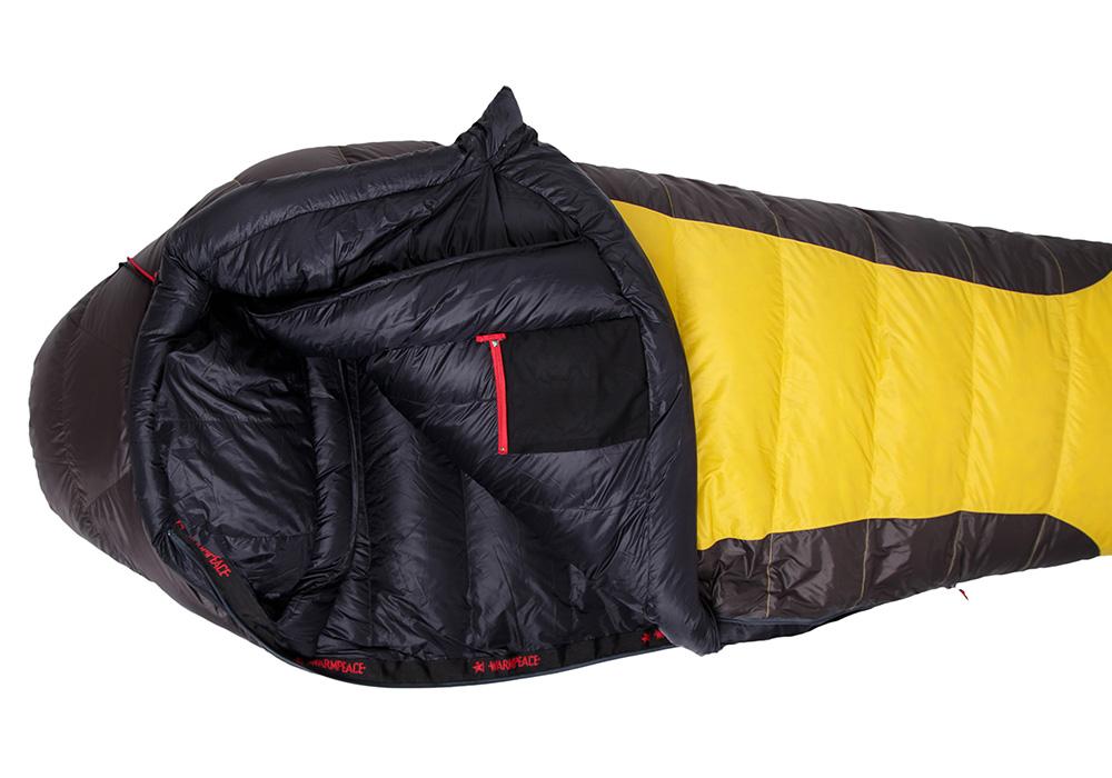 Отворен пухен спален чувал Warmpeace Viking 1200 Yellow / Grey 2020