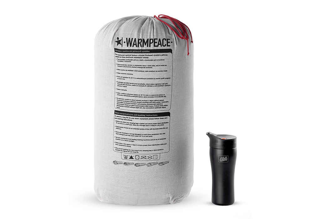 Торба за съхрнение на пухен спален чувал Warmpeace Viking 1200 Hay / Steel 2020