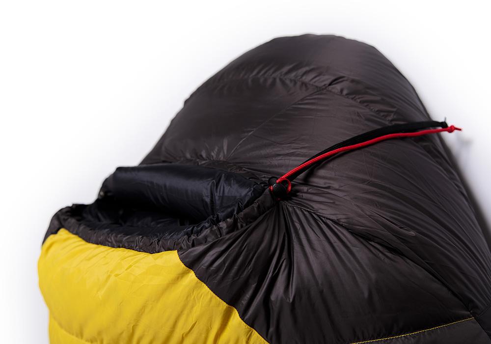 Качулка на спален чувал Warmpeace Viking 1200 Yellow / Grey 2020