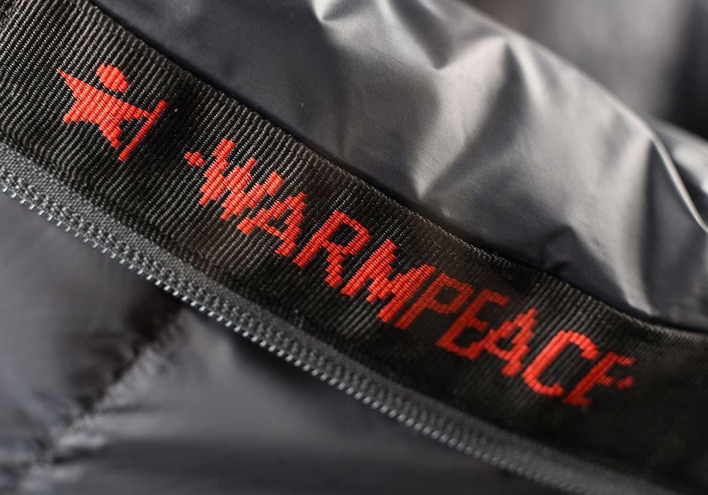 Лого на пухен спален чувал Warmpeace Viking 1200 Hay / Steel 2020