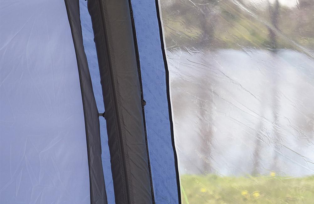 Затъмнени панорамни прозорци с покривала Надуваема палатка Outwell Bayfield 5A модел 2018