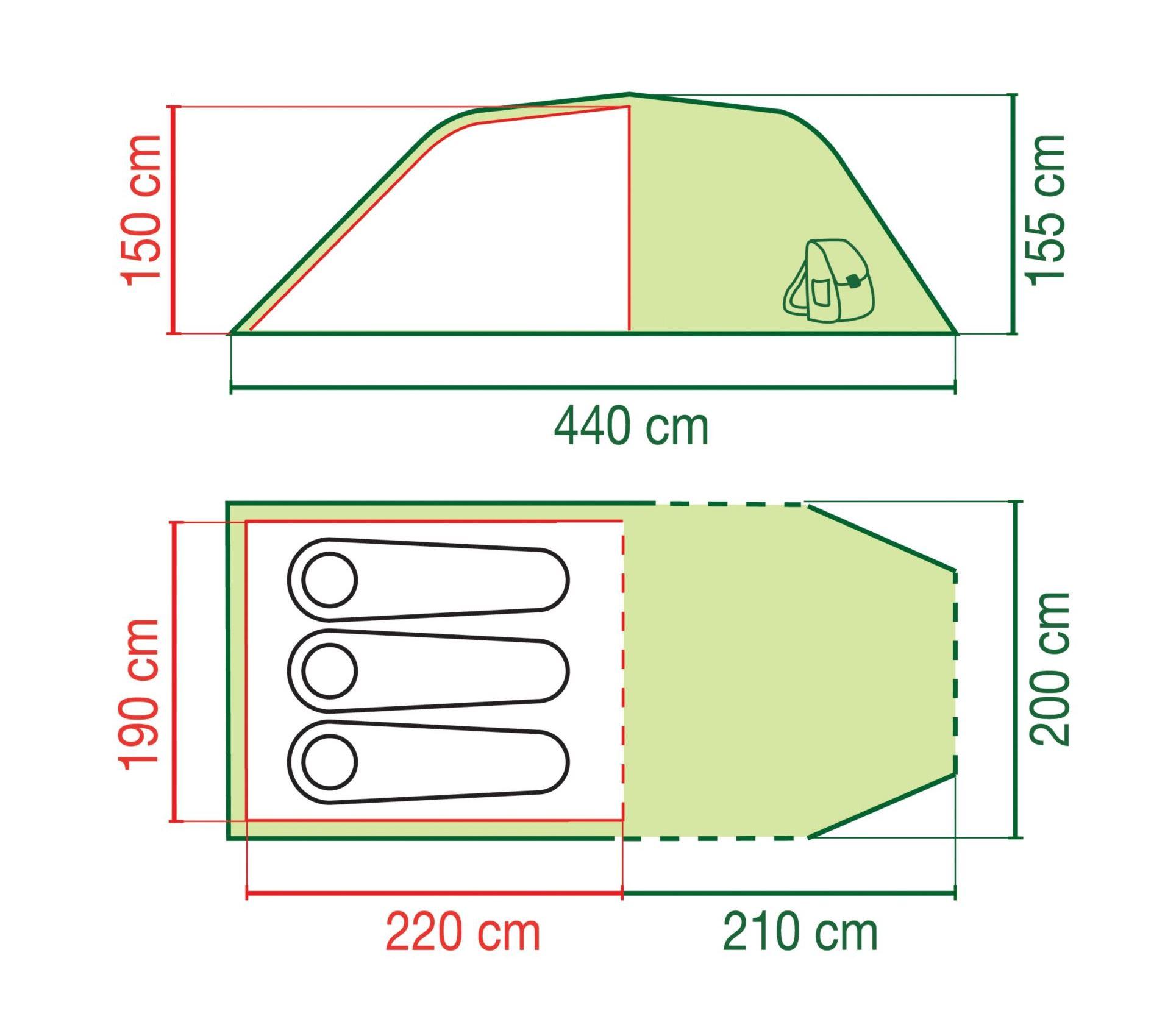 графична илюстрация на палатка