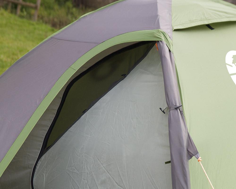 Туристическа двуместна палатка Coleman Darwin 2 мини комарник на входа