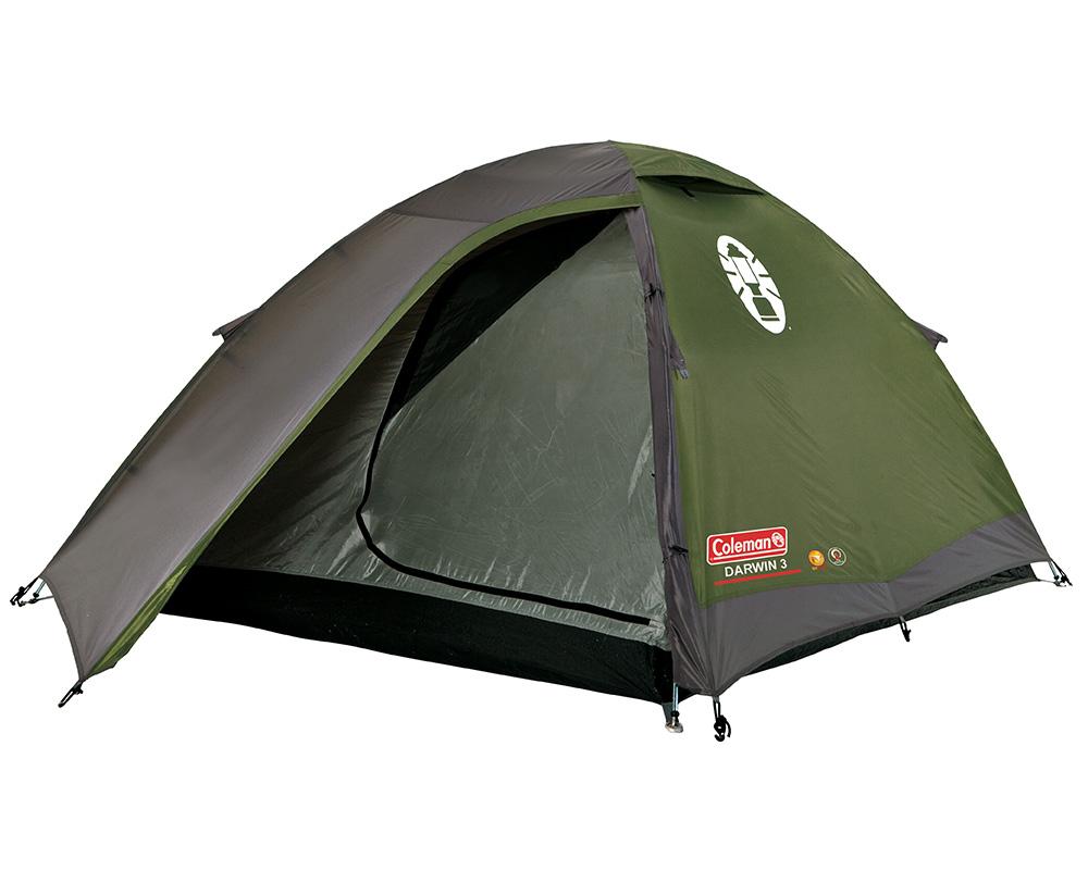 Туристическа триместна палатка Coleman Darwin 3 отворена