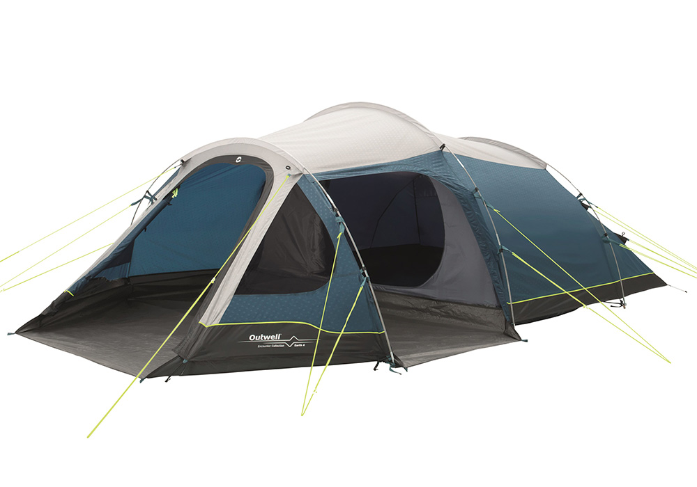 Четириместна палатка Outwell Earth 4 модел 2017