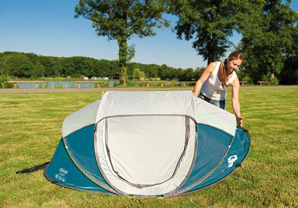 Разпъване на двуместна палатка Coleman Galiano 2 Pop Up Blue 2020