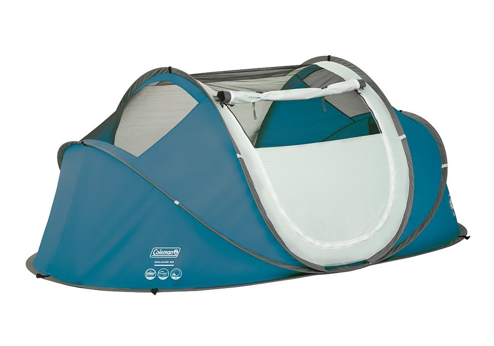 Проветрение на двуместна палатка Coleman Galiano 2 Pop Up Blue 2020