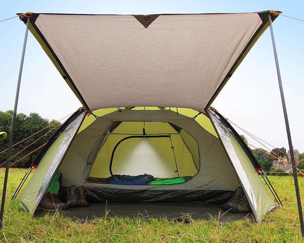 Входът се превръща в навес палатка Coleman Hayden 4