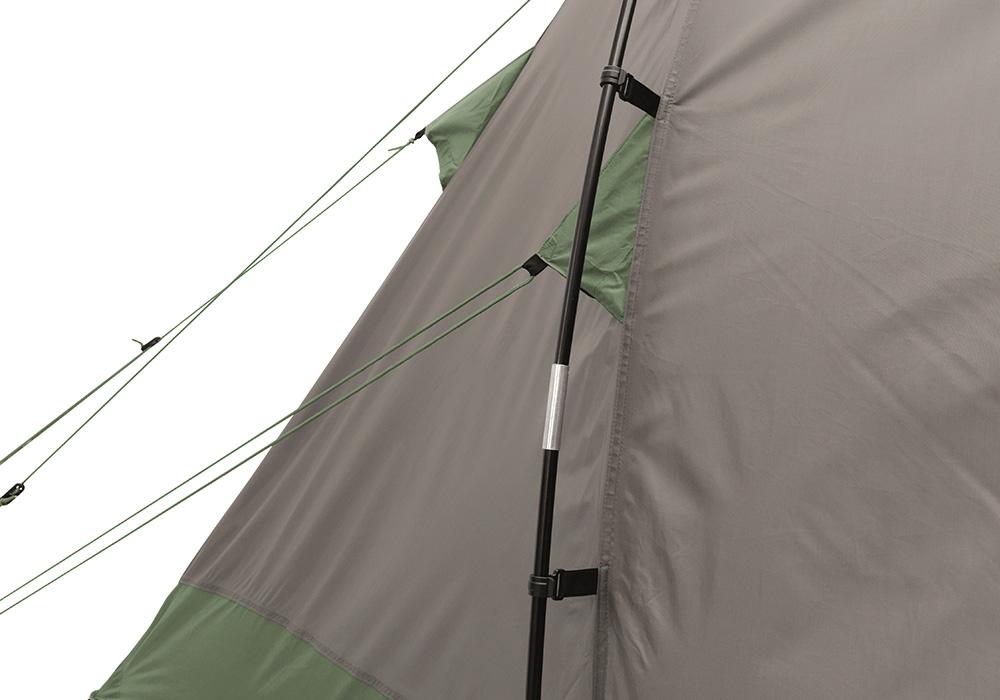 Стабилна конструкция на четириместна палатка Easy Camp Huntsville 400 2018