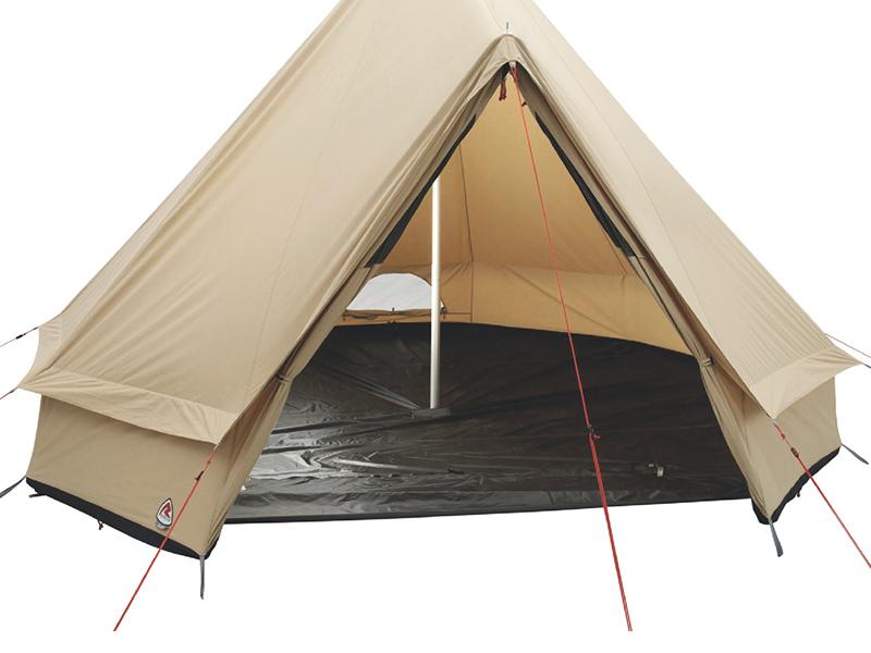 Типи шестместна полипамучна палатка Robens Klondike вътрешно помещение