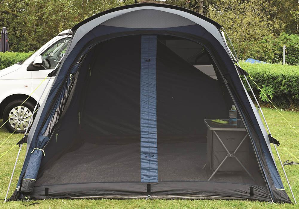 Фронтален изглед на палатка за миниван Outwell Milestone Pro 2018