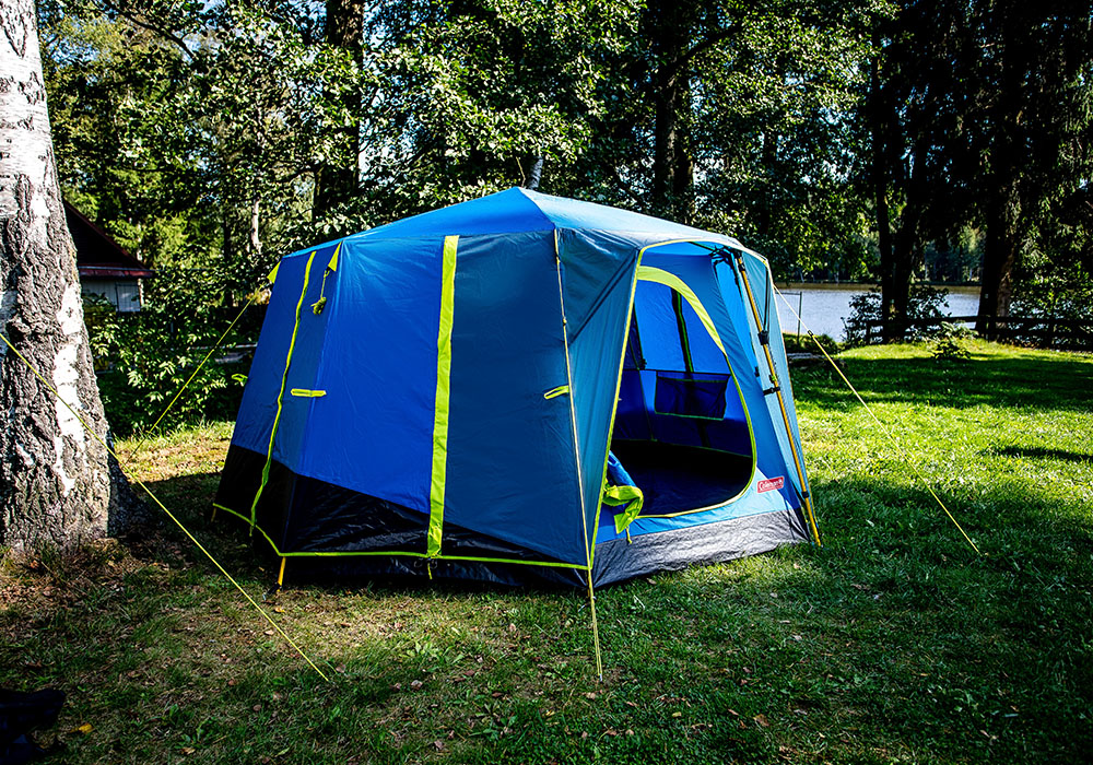На къмпинг с триместна палатка Coleman OctaGo 3 2020