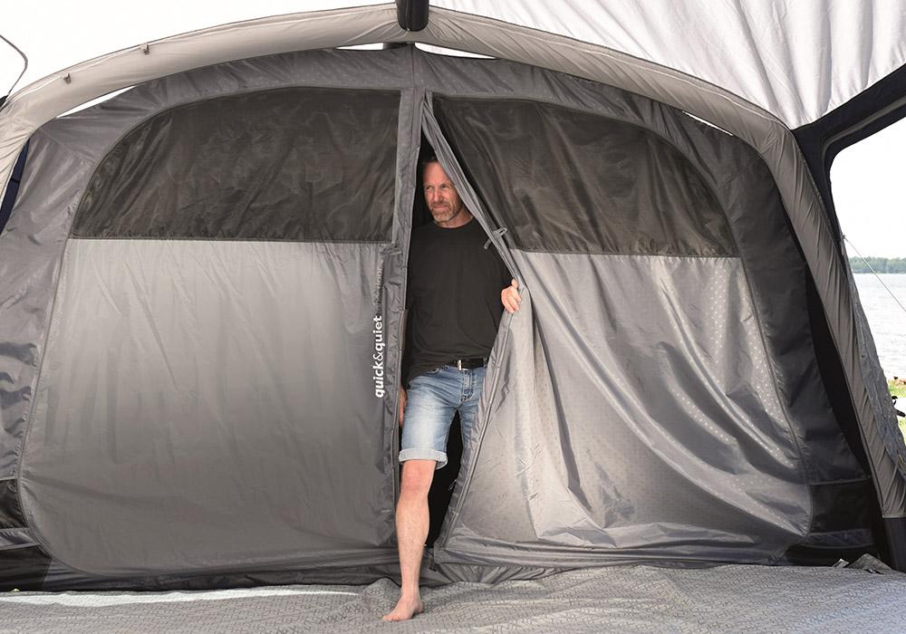 Quiet inner на спални на четириместна надуваема палатка Outwell Rosedale 4PA 2020