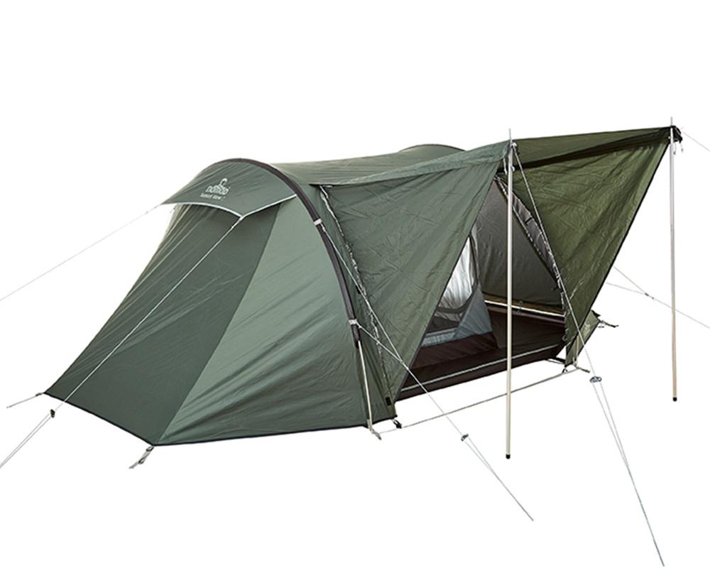 Превръщане на страничения вход в навес палатка Nomad Sunset View 2 Moss