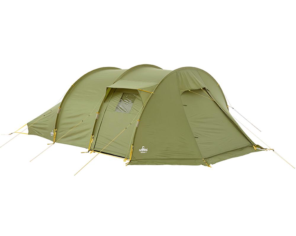 Всички входове затворени на четириместна палатка Nomad Tellem 4 Calliste Green
