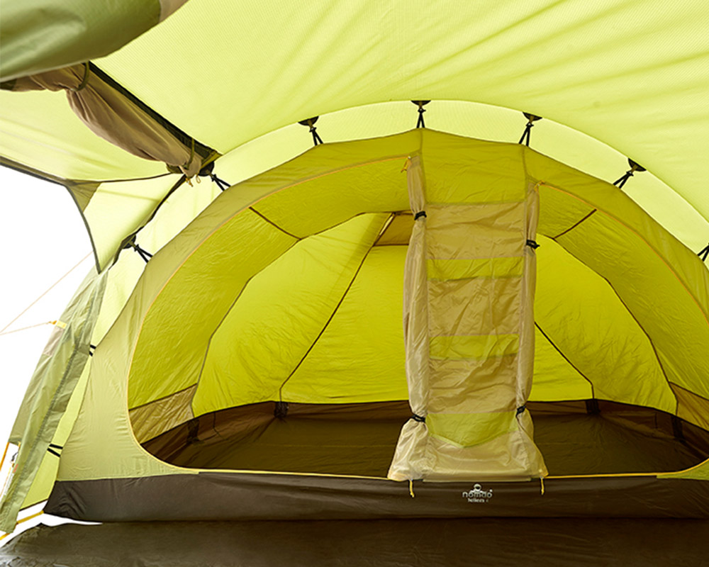 Спални помещения на четириместна палатка Nomad Tellem 4 Calliste Green
