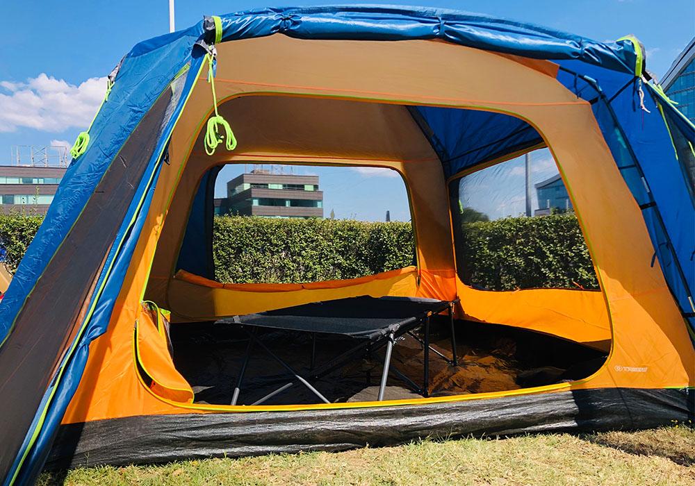 Отворена четириместна палатка Trimm Macao Dark Lagoon 2020