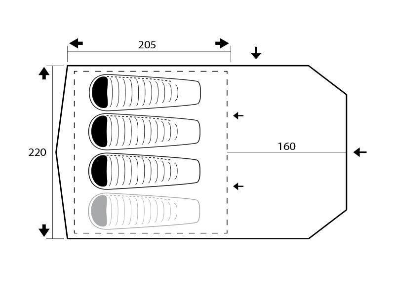 графична илюстрация на интериор на палатка