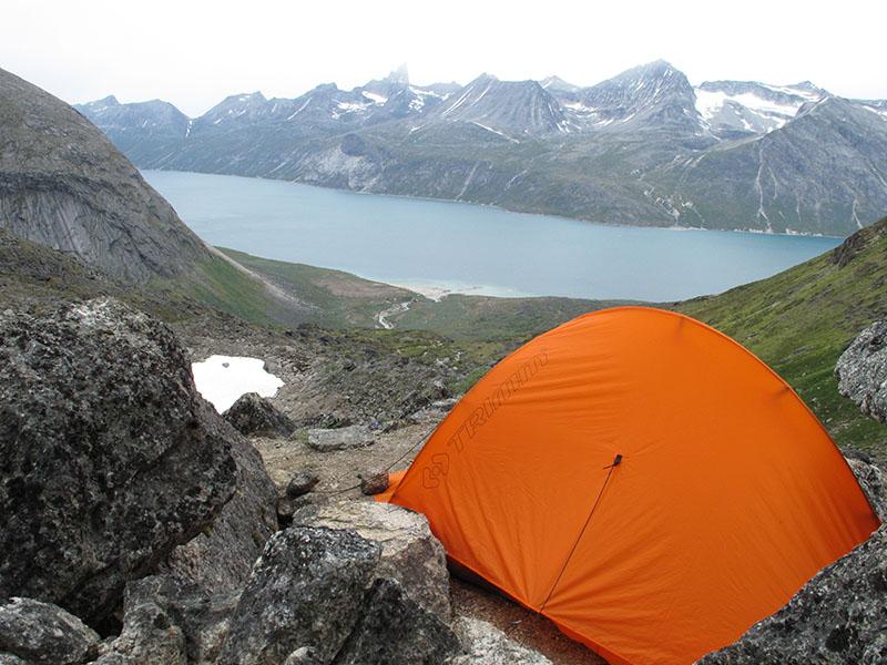 В планината с палатка Trimm Himlite-DSL 2021