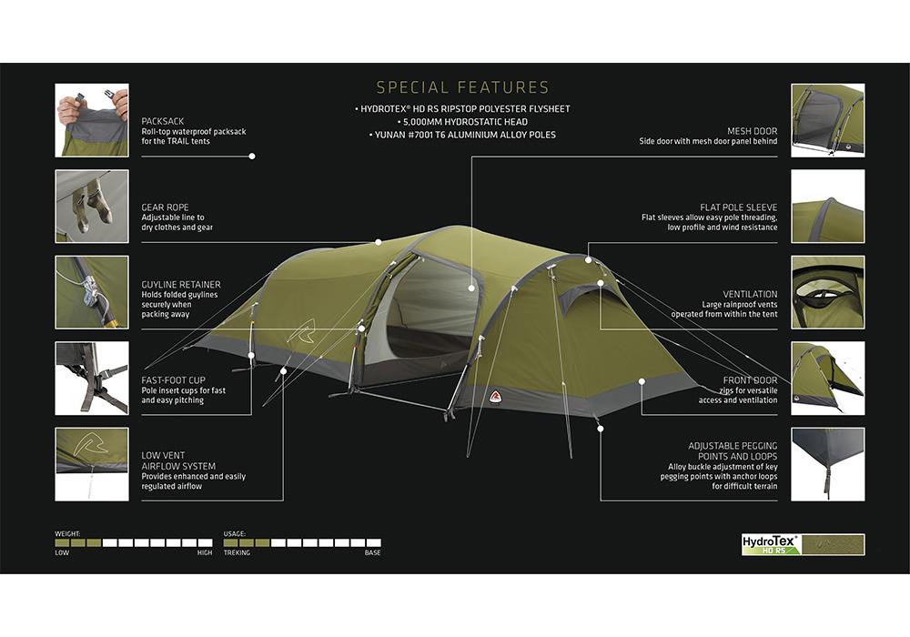 Екстри на триместна туристическа палатка Robens Voyager 3EX