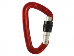 STUBAI Atomy 2.0 Carabiner with screw gate Red