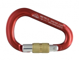 STUBAI HMS PRO EL Carabiner with screw gate Red