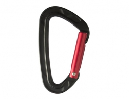 STUBAI Rock Clip 2.0 Straight Gate Carabiner Black