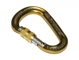 STUBAI HMS Pico Easylock Carabiner with screw gate Gold