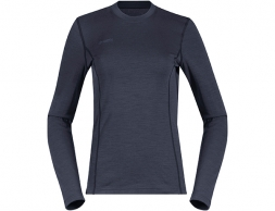 Bergans Akeleie Lady Hybrid Wool Shirt Dark Fogblue 2019