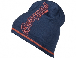 Шапка от мерино вълна Bergans Bloom Wool Beanie Navy Mel/Br Magma