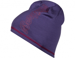 Шапка от мерино вълна Bergans Bloom Wool Beanie Lt Viola/BeetRed
