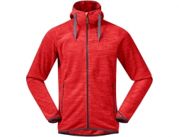 Bergans Hareid Fleece Jacket Red Melange 2020