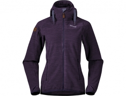 Дамско поларено яке Bergans Hareid Fleece W Jkt Purple Velvet Mel