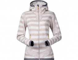 Дамско вълнено яке Bergans Hollvin Wool Lady Jacket Cream/Light Beige Striped