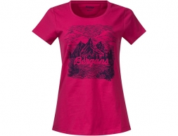 Дамска тениска Bergans Mountain View W Tee Bougainvillea 2019